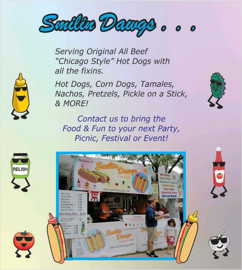 Smilin Dawgs - Hot Dogs, Corn Dogs, Polish, Nachos, Pickle on a Stick, Ice Cold Drinks, Water, Gatorade